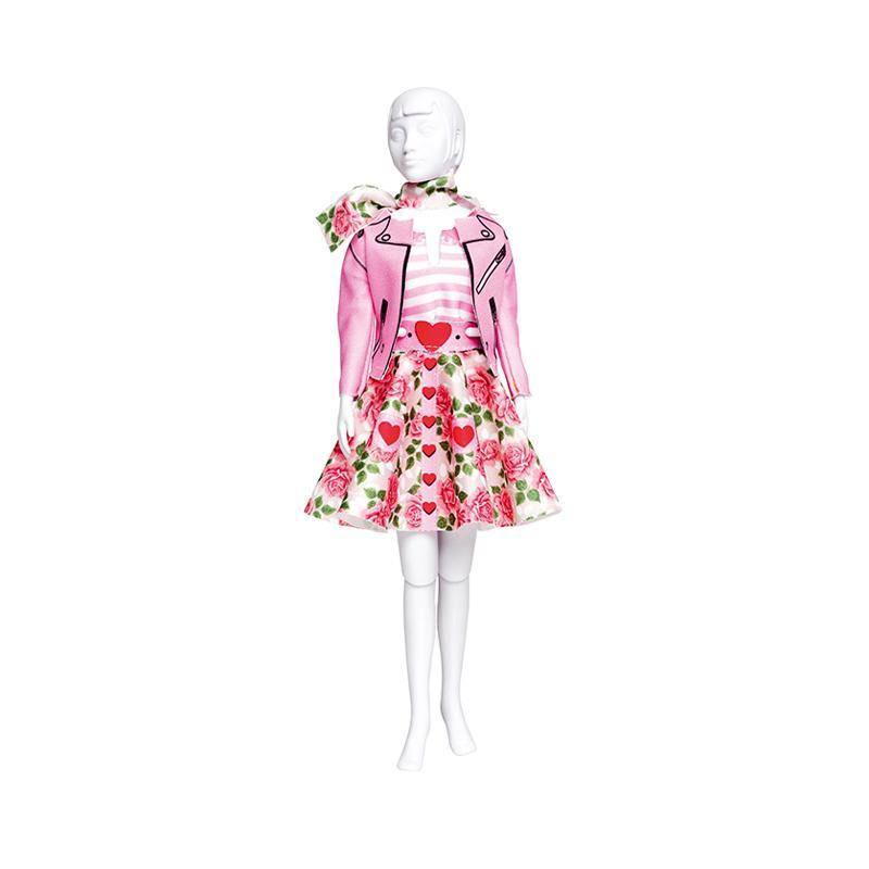 Set de croitorie hainute pentru papusi Couture Lucy Roses, Dress Your Doll