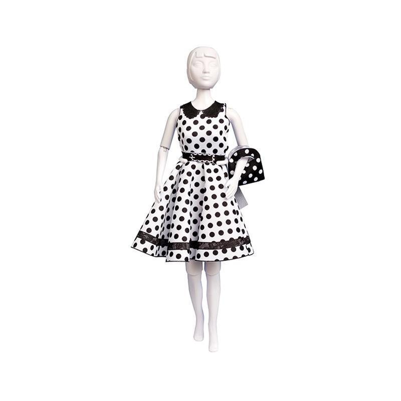Set de croitorie hainute pentru papusi Couture Peggy Dots, Dress Your Doll