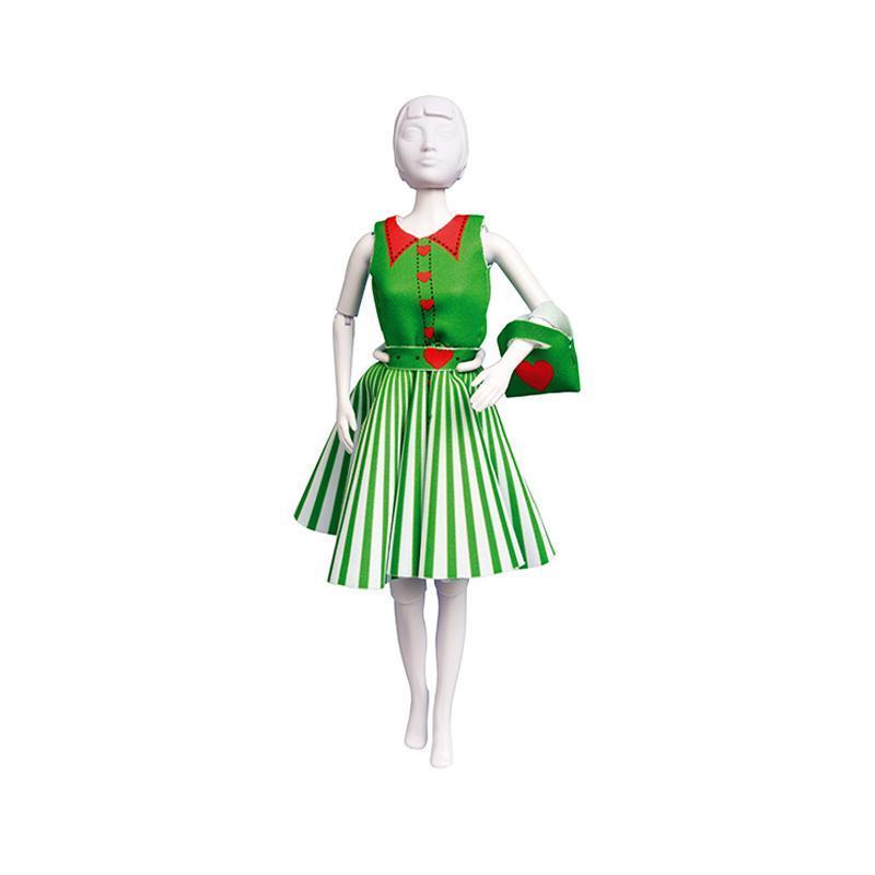 Set de croitorie hainute pentru papusi Couture Peggy Hearts, Dress Your Doll