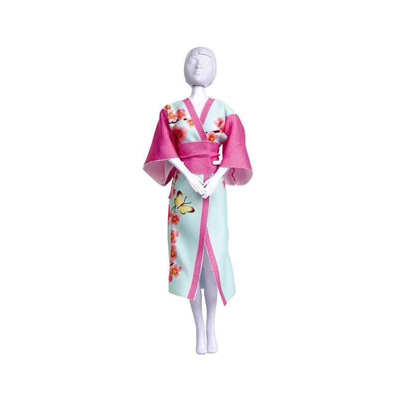Set de croitorie hainute pentru papusi Couture Yumi Blossom, Dress Your Doll