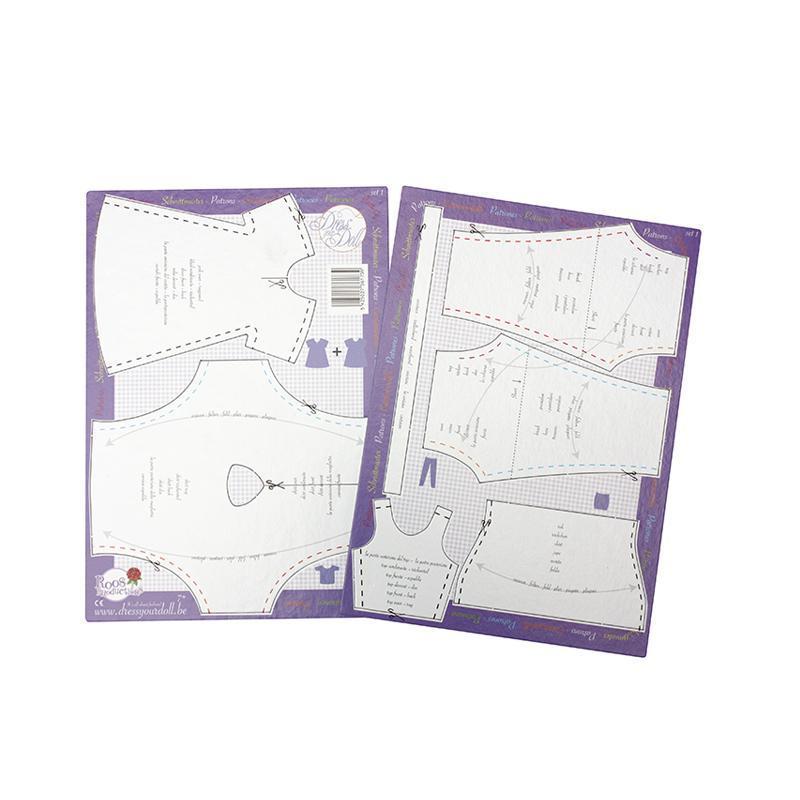 Set sabloane croitorie hainute pentru papusi nr. 1, Dress Your Doll