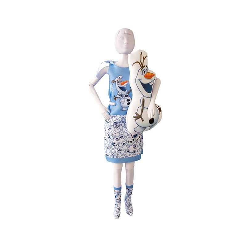Set de croitorie hainute pentru papusi Couture Disney Sleepy Sweet Olaf, Dress Your Doll