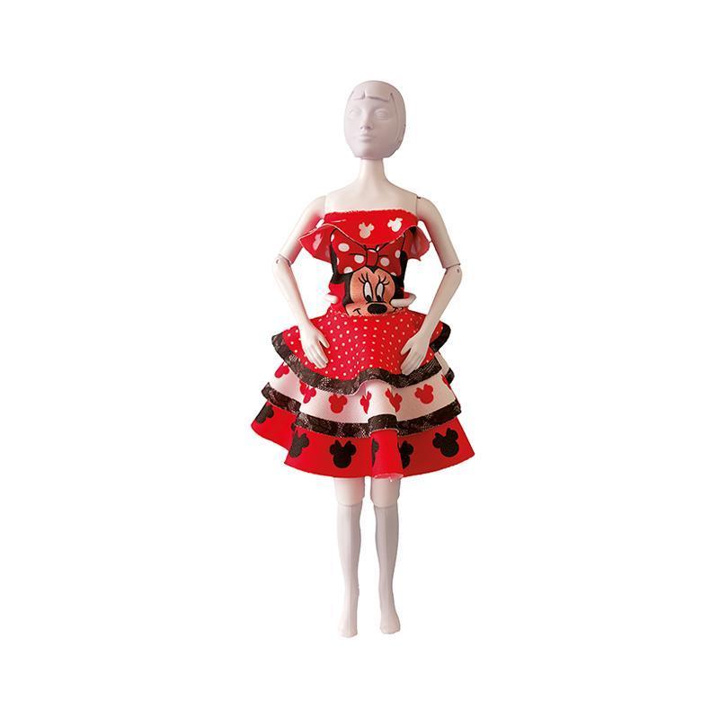 Set de croitorie hainute pentru papusi Couture Disney Maggy Minnie Dots, Dress Your Doll