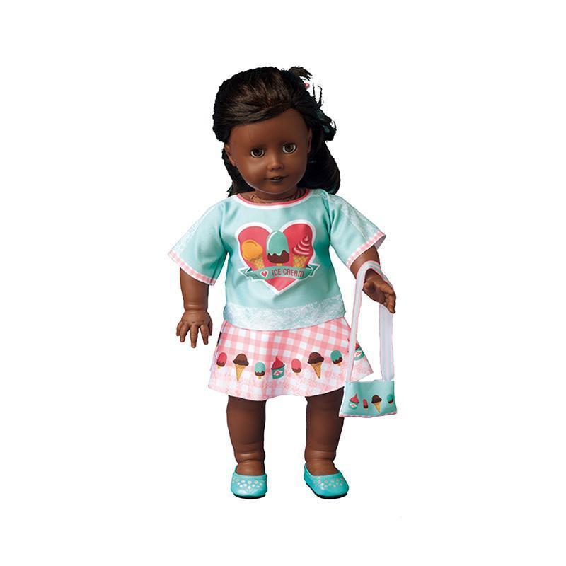 Set de croitorie hainute pentru papusi Couture Emily I love ice cream, Dress Your Doll