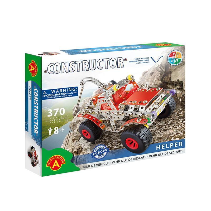 Set constructie 370 piese metalice Constructor Helper SUV, Alexander