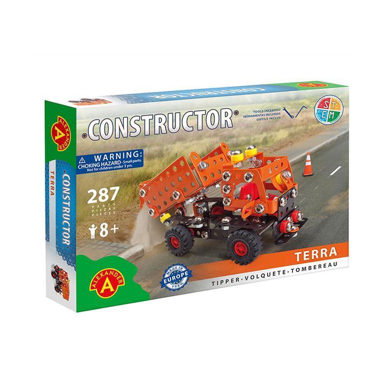 Set constructie 287 piese metalice Constructor Terra Basculanta, Alexander