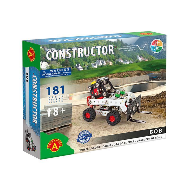 Set constructie 181 piese metalice Constructor Bob Incarcatorul frontal, Alexander