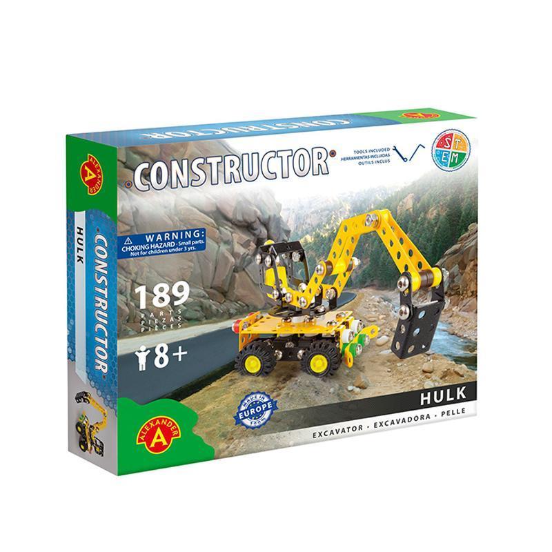 Set constructie 189 piese metalice Constructor Hulk Excavatorul, Alexander