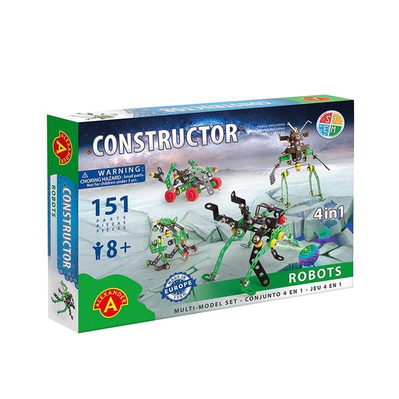 Set constructie 151 piese metalice Constructor Roboti 4in1, Alexander