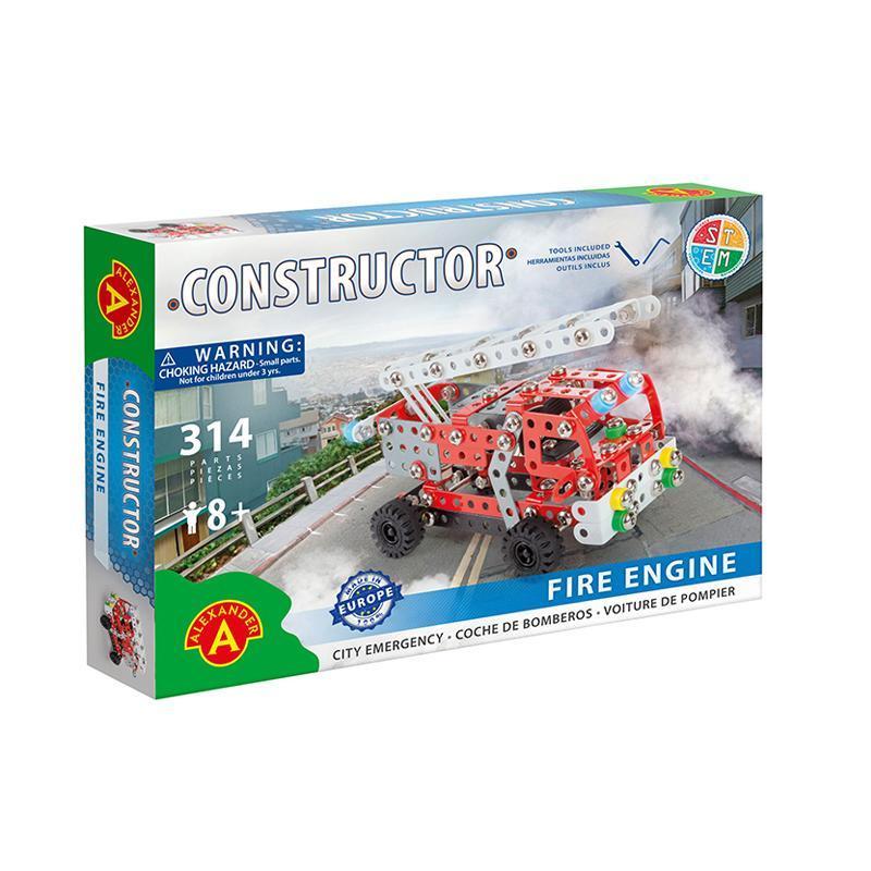 Set constructie 314 piese metalice Constructor Masina de pompieri, Alexander