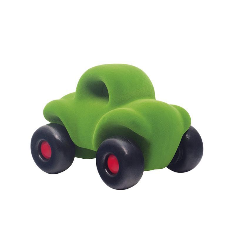 Jucarie cauciuc natural Masinuta Buggy, verde, Rubbabu