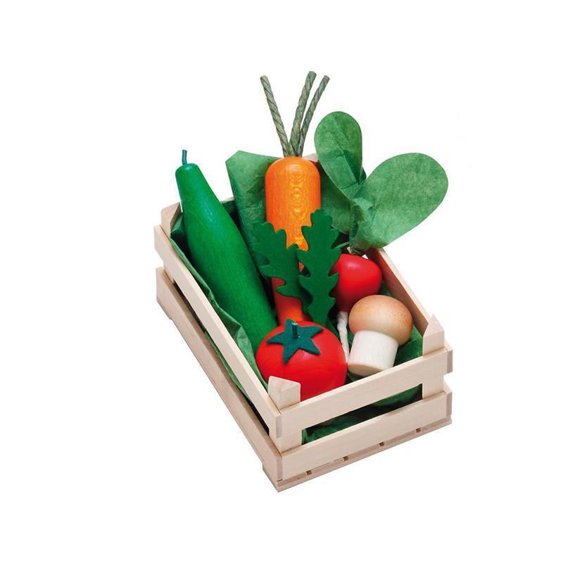 Ladita mica cu legume asortate din lemn, Erzi