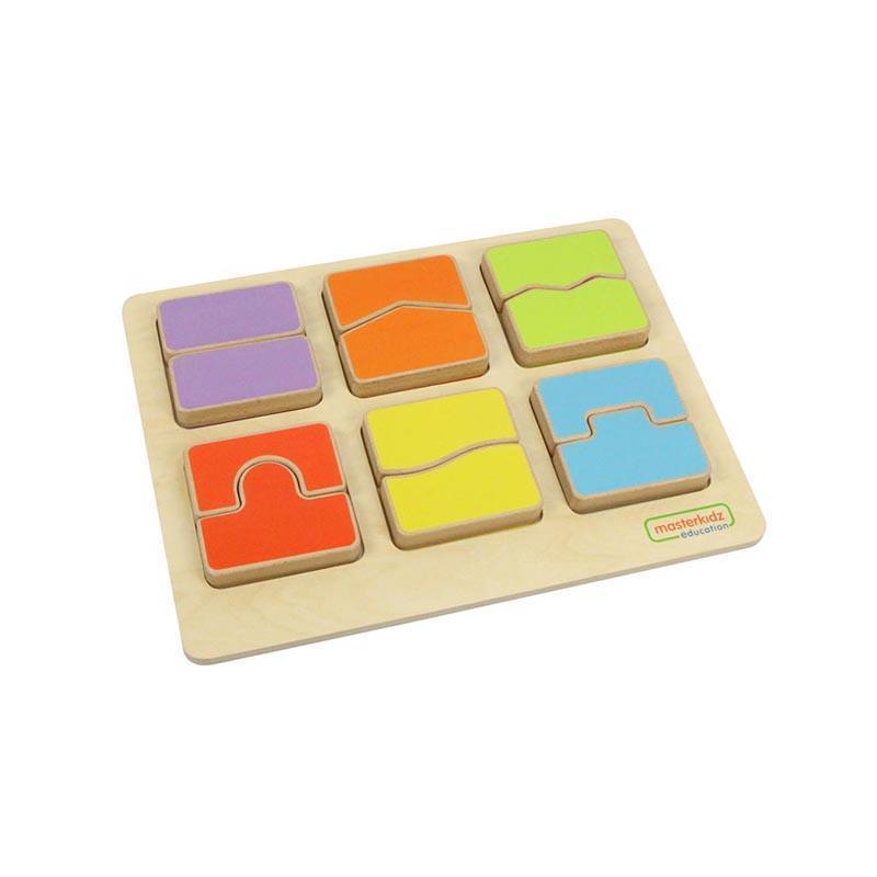 Puzzle sortator forme si culori, din lemn, +2 ani, Masterkidz, pentru gradinite imagine
