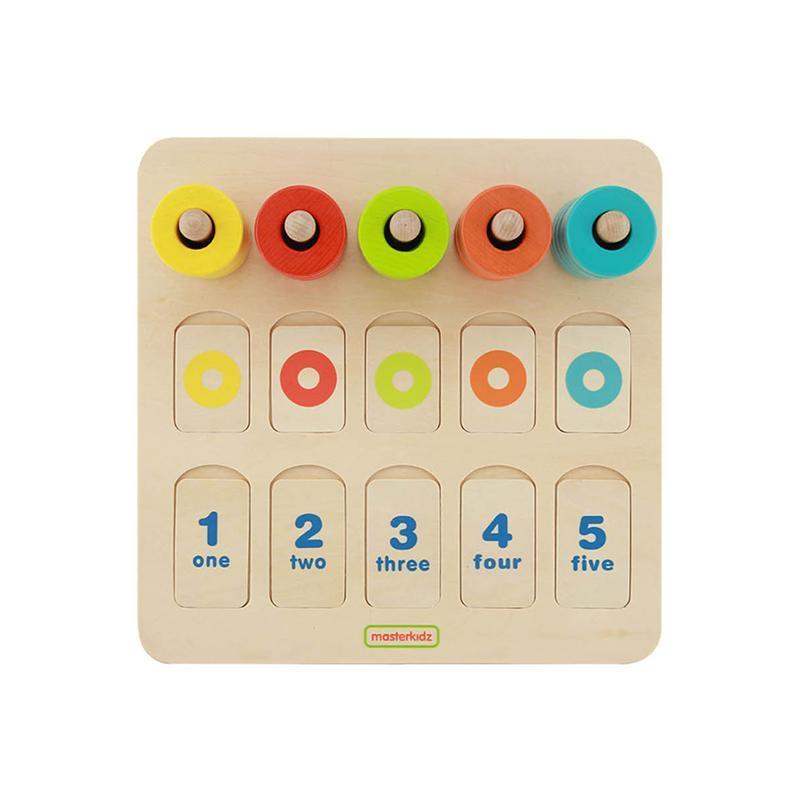 Joc de numarat si sortator de culori, din lemn, +3 ani, Masterkidz imagine