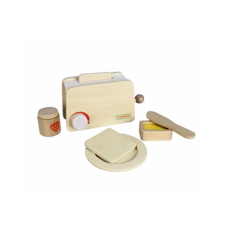 Set toaster de jucarie, din lemn, +3 ani, Masterkidz