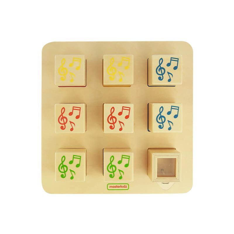 Joc educativ Cuburile sonore, din lemn, +1 an, Masterkidz