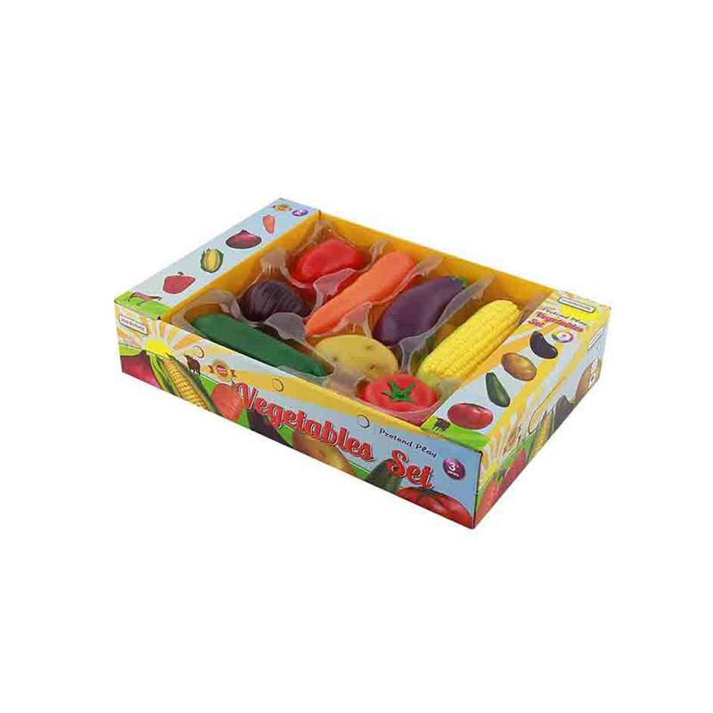 Set 8 legume de jucarie, din plastic, +3 ani, Masterkidz