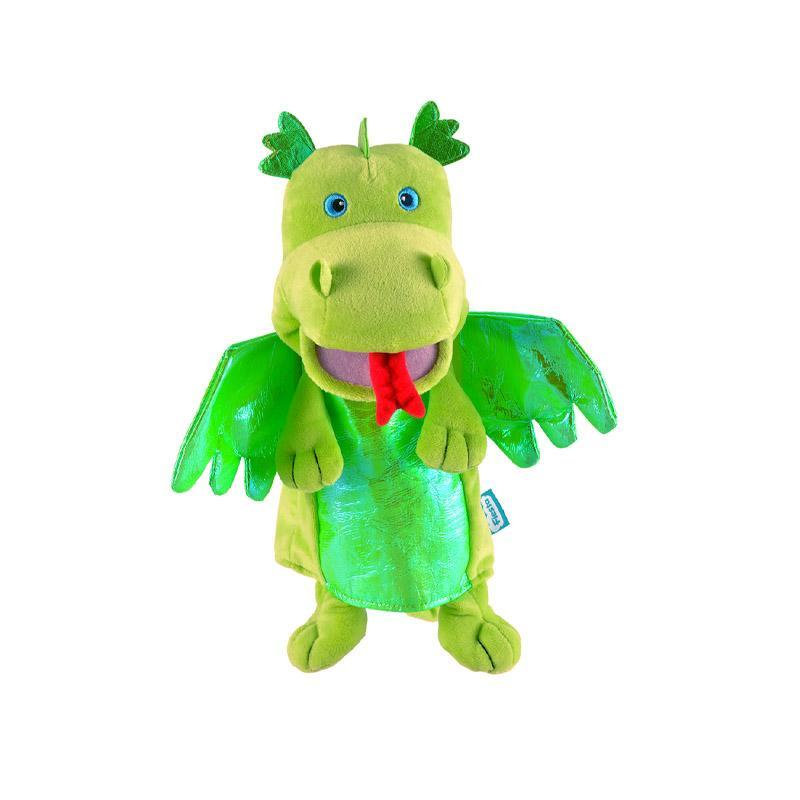 Marioneta Dragon verde pentru teatru papusi, hand-puppet, 3 ani+, Fiesta