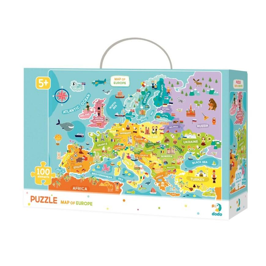 Puzzle - Descopera Europa (100 piese)