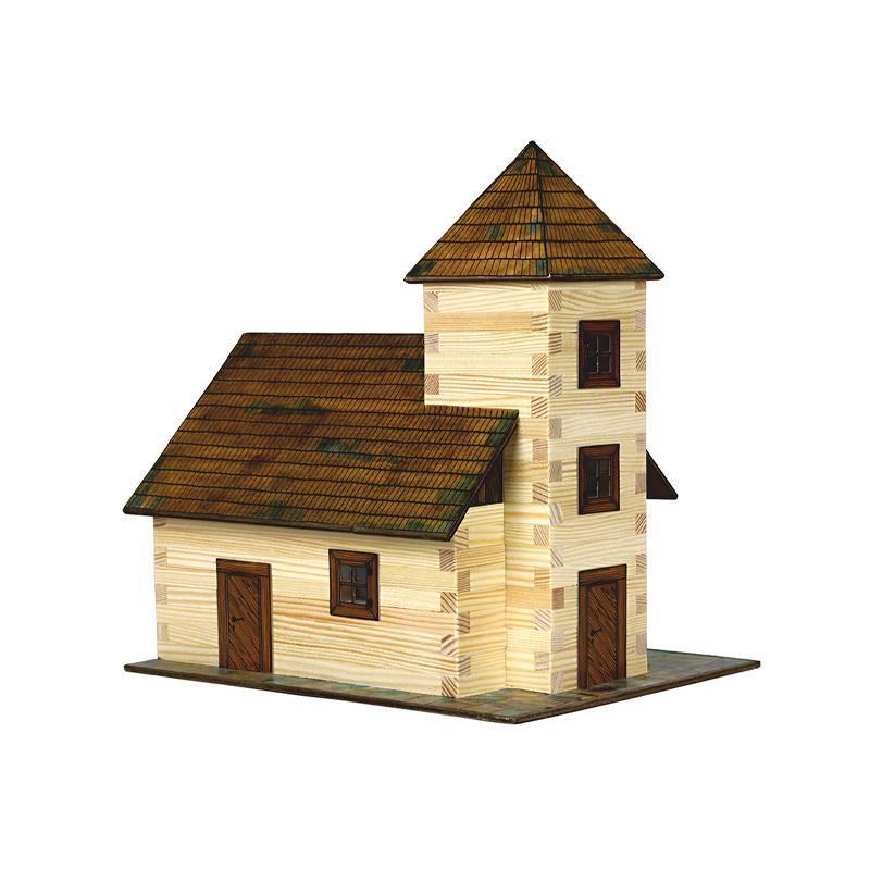 Set constructie arhitectura Biserica, 213 piese din lemn, Walachia