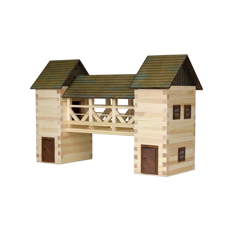 Set constructie arhitectura Pod, 259 piese din lemn, Walachia
