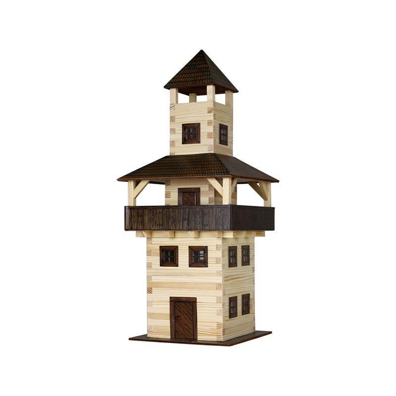 Set constructie arhitectura Turn, 276 piese din lemn, Walachia