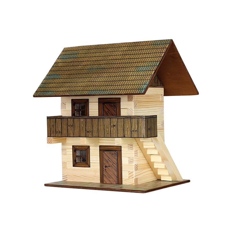 Set constructie arhitectura Granar, 126 piese din lemn, Walachia