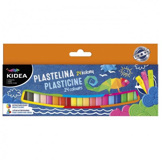 Plastilina mix 24 culori Kidea imagine