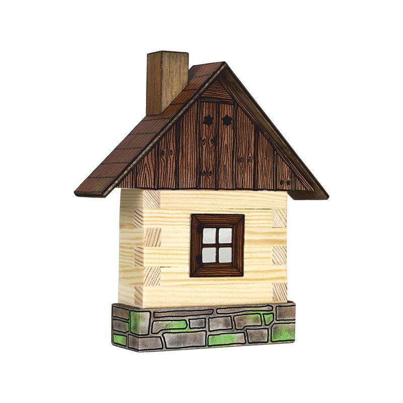 Set Cabanuta din lemn decorativa pentru perete, Walachia