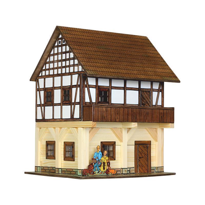 Set constructie arhitectura Granar cu grinzi, 115 piese din lemn, Walachia