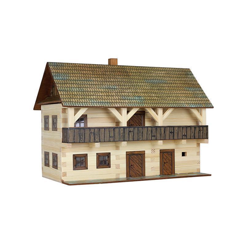 Set constructie arhitectura Casa magistratului, 298 piese din lemn, Walachia