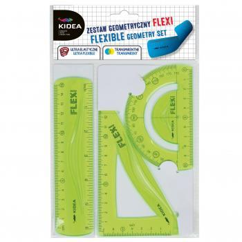 Set flexi geometrie 3 elemente pentru scoala Kidea imagine