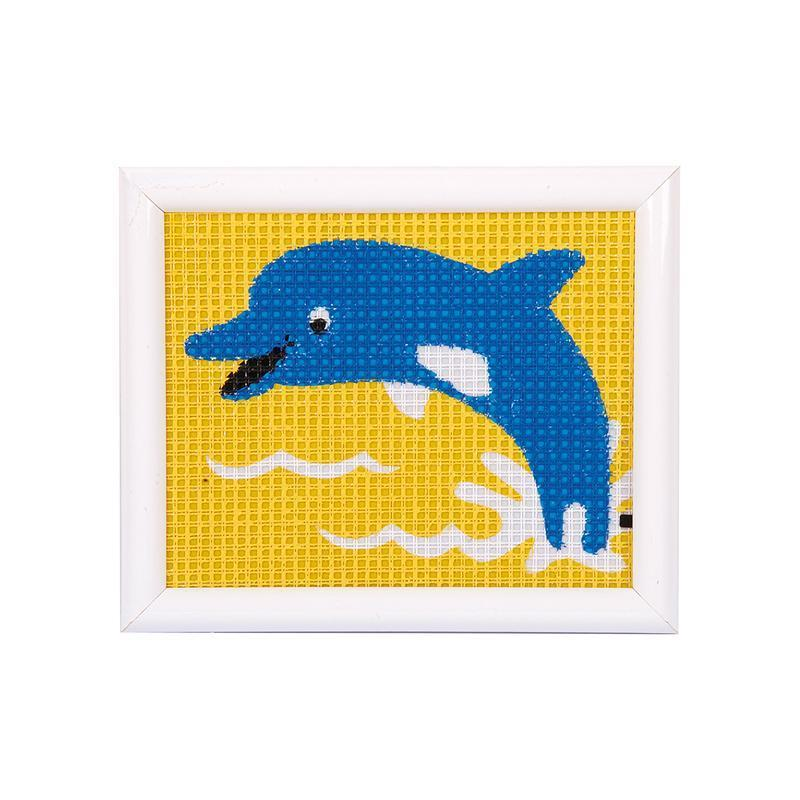 Kit creativ coasere in cruce Delfin, Kits4Kids