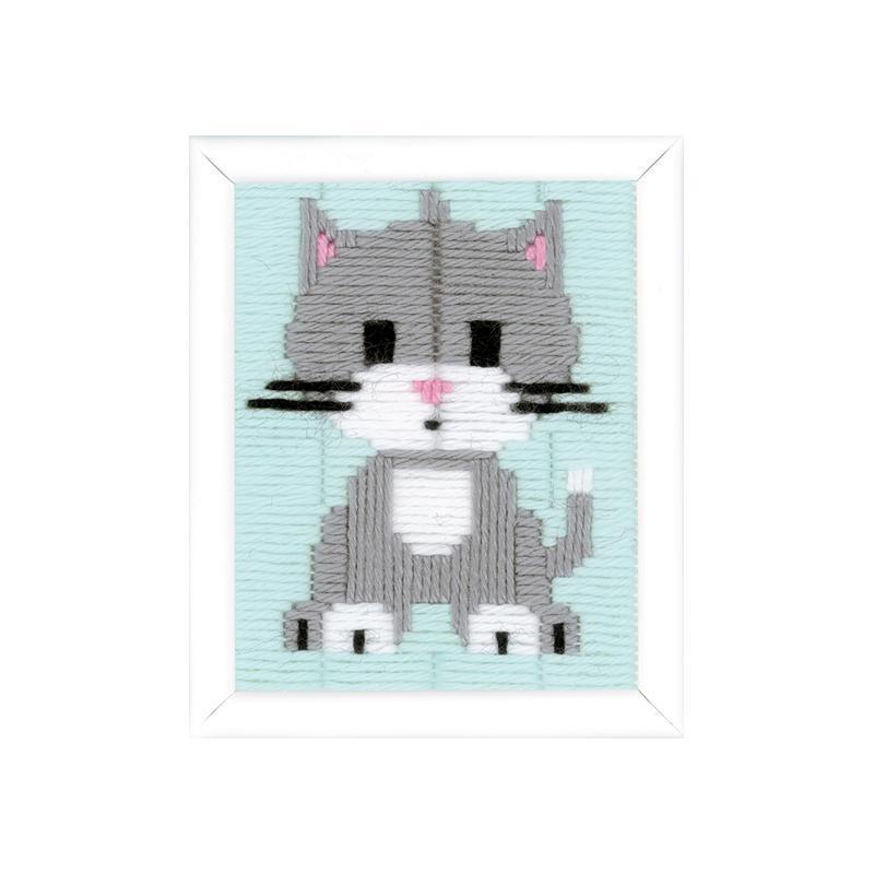 Kit creativ coasere Pisica gri, Kits4Kids