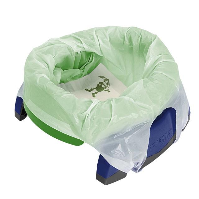 Pungi biodegradabile de unica folosinta pentru olita portabila Potette Plus - 10 buc/set imagine