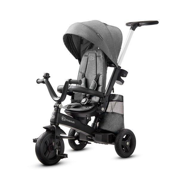 Tricicleta 4 in 1 rotativa cu pozitie de somn EASY TWIST Platinum Grey imagine