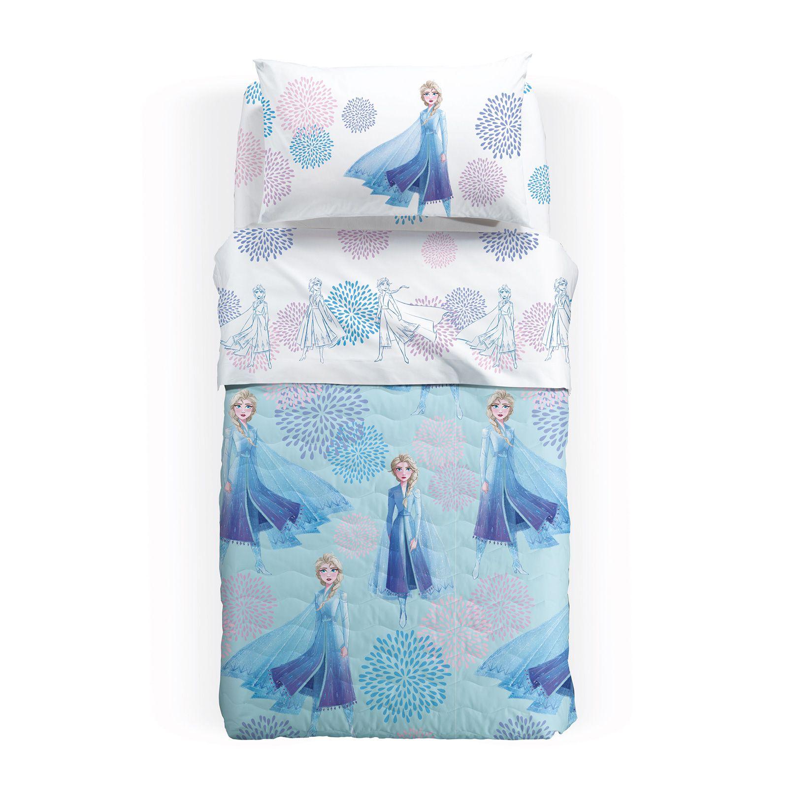 Lenjerie pat Elsa Blu matlasata 160x280 cm