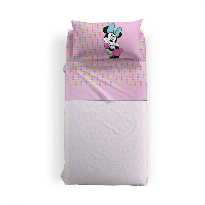 Lenjerie pat Minnie Gaia 170x270 cm roz