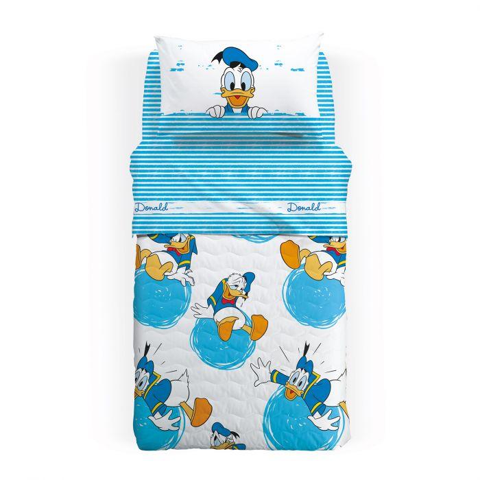 Lenjerie pat Donald Duck 160x280 cm