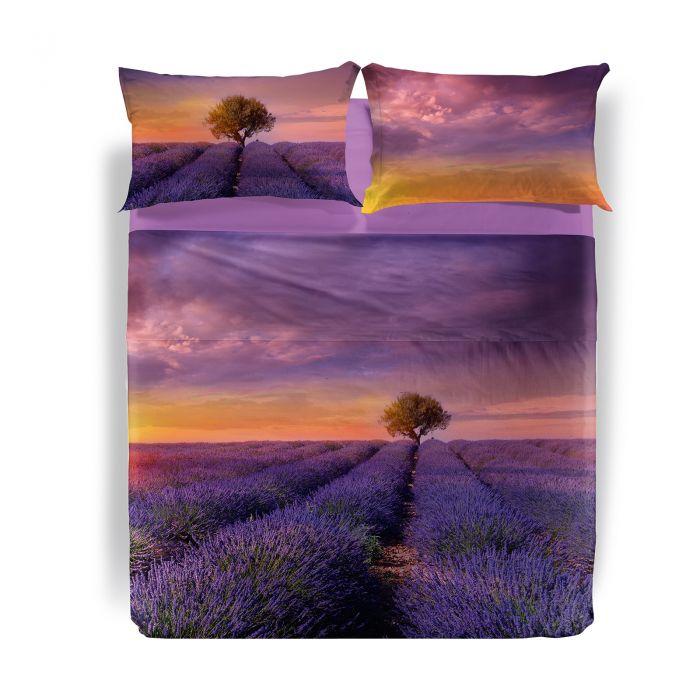 Lenjerie pat dublu Lavender Sunset 240x280 cm multicolor