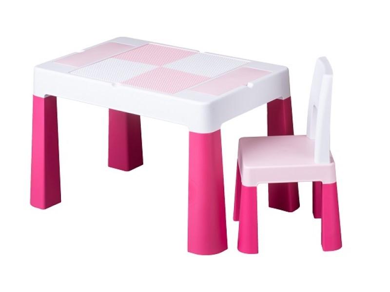 Set masuta cu scaun Tega Lego Multifun Roz imagine