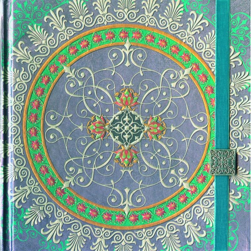 Agenda Mandala cu elastic bleu imagine