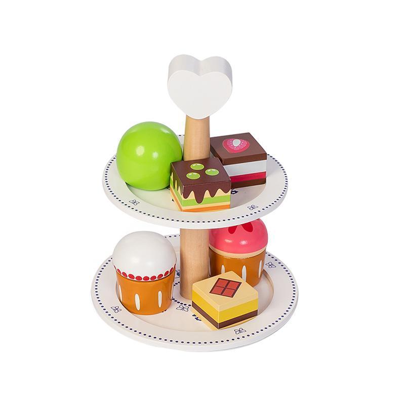Suport de prajituri de jucarie gama Royal, cu 6 prajituri, 3+ MamaMemo