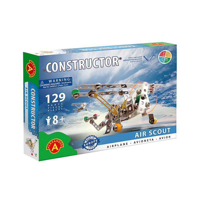 Set constructie 129 piese metalice Constructor Air Scout Avion, Alexander