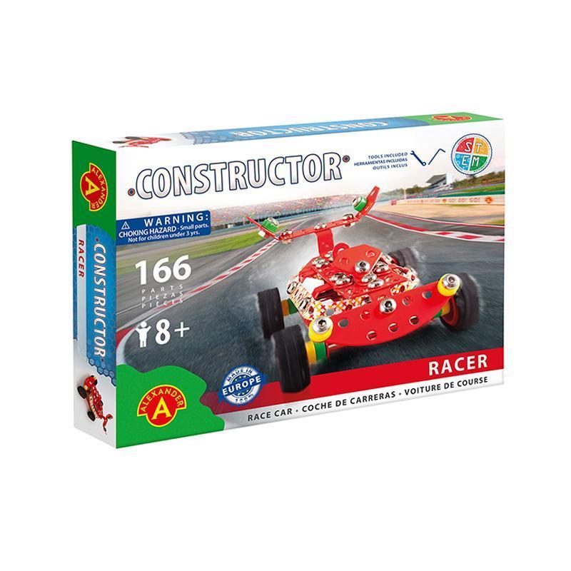 Set constructie 166 piese metalice Constructor Racer Masina de curse, Alexander