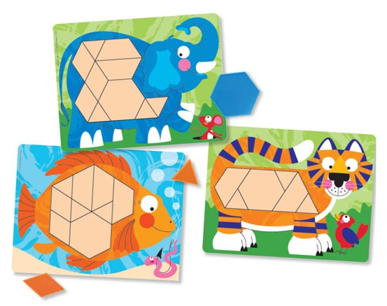 Set De Sabloane Cu Animale Melissa And Doug imagine