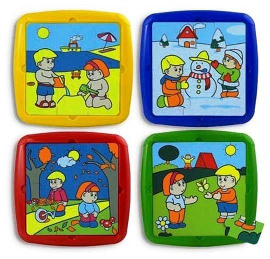 Set De 4 Puzzle Activitati De Sezon Miniland imagine