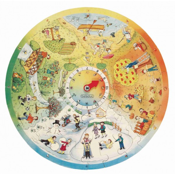 Puzzle Circular Anotimpurile Beleduc