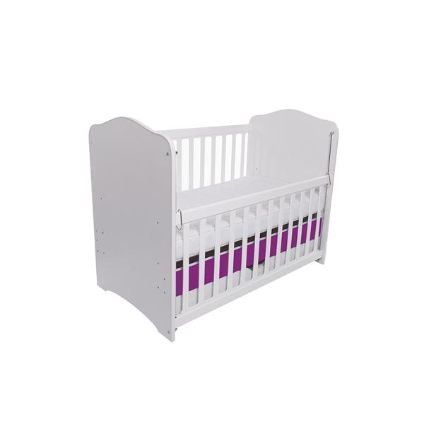 Patut eurogloria como culisant cu sertar - alb cu violet + saltea cocos 10 cm imagine