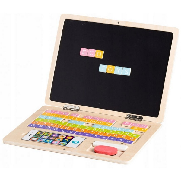 Laptop educational din lemn g068 ecotoys imagine